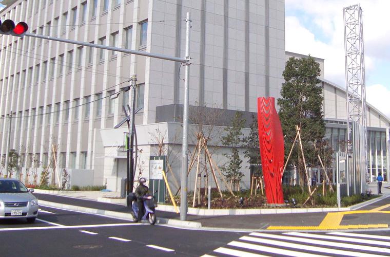 堺市美原区複合シビック施設(大阪)/エントランス
